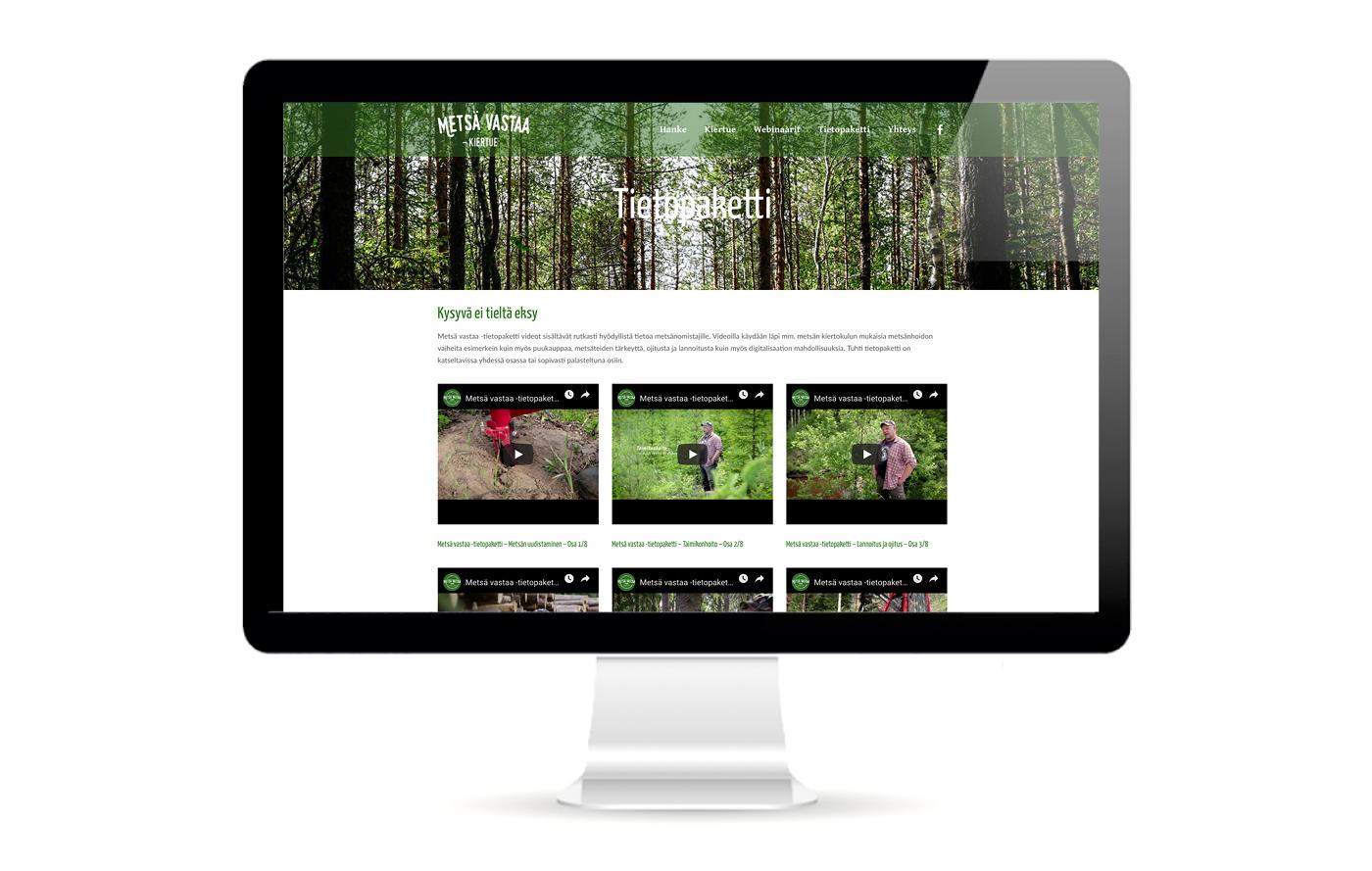Työnäyte: Metsä Vastaa kiertue - Videokuvaus ja live-lähetykset, visuaalinen suunnittelu ja brändin kehittäminen