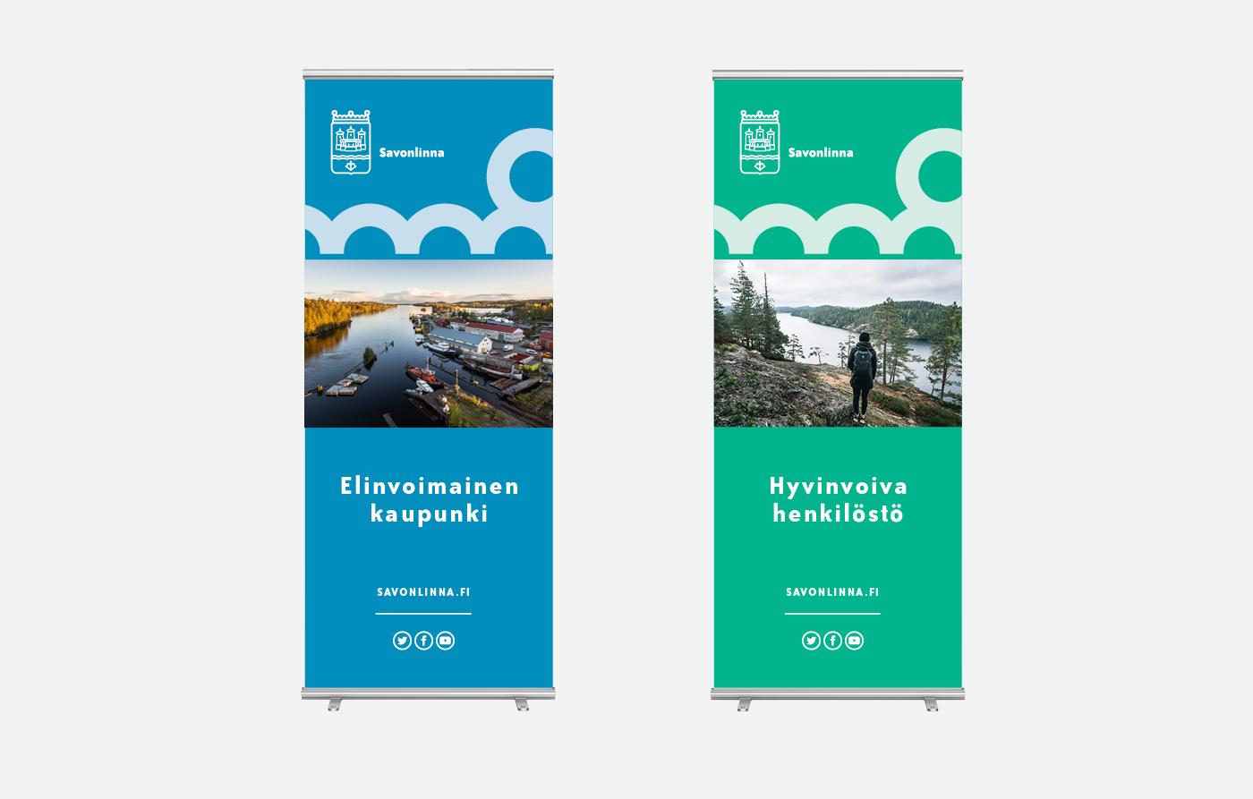 Savonlinnan kaupunki - visuaalinen ja graafinen suunnittelu - roll up