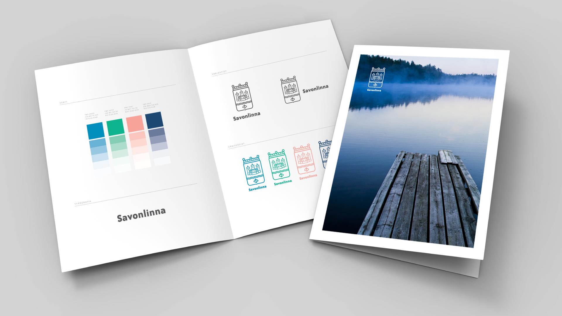 Työnäyte: Savonlinnan kaupunki - Valokuvaus, logon ja tunnuksen suunnittelu, visuaalinen ja graafinen suunnittelu