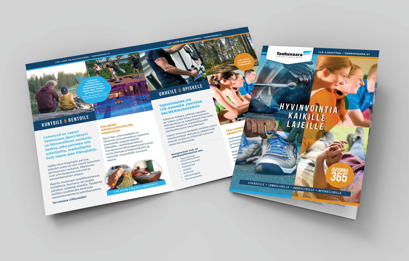 Työnäyte: Tanhuvaara Sport Resort - Visuaalinen ja graafinen suunnittelu, brändin kehittäminen sekä mainonnan suunnittelu ja toteutus