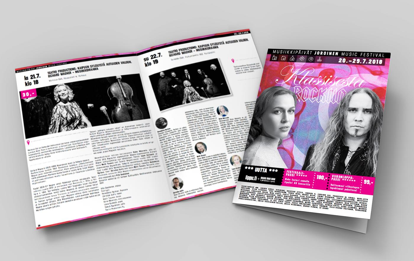 Työnäyte: Joroisten musiikkipäivät - visuaalinen ja graafinen suunnittelu