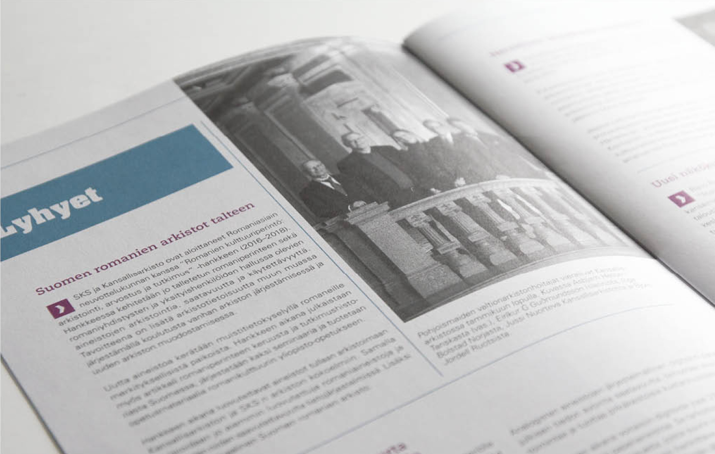 Työnäyte: Kansallisarkiston visuaalinen ja graafinen suunnittelu sekä mainonnan suunnittelu ja toteutus. Kotisivujen suunnittelu ja toteutus