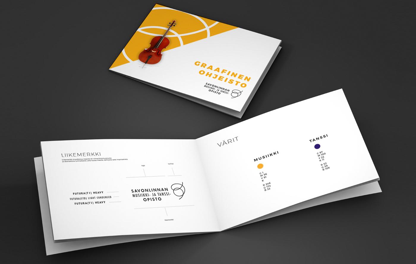 Työnäyte: Savonlinnan musiikki- ja tanssiopisto - Graafinen ohjeisto, visuaalinen ja graafinen suunnittelu