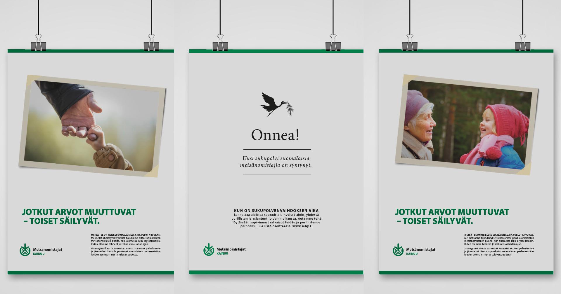 Työnäyte: Metsänhoitoyhdistys - Visuaalinen suunnittelu, kampanjan ja mainonnan suunnittelu ja toteutus