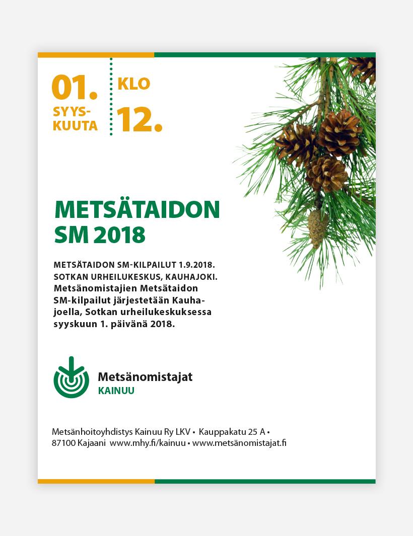 Työnäyte: Metsänhoitoyhdistys - Visuaalinen suunnittelu, kampanjan suunnittelu sekä mainonnan suunnittelu ja toteutus