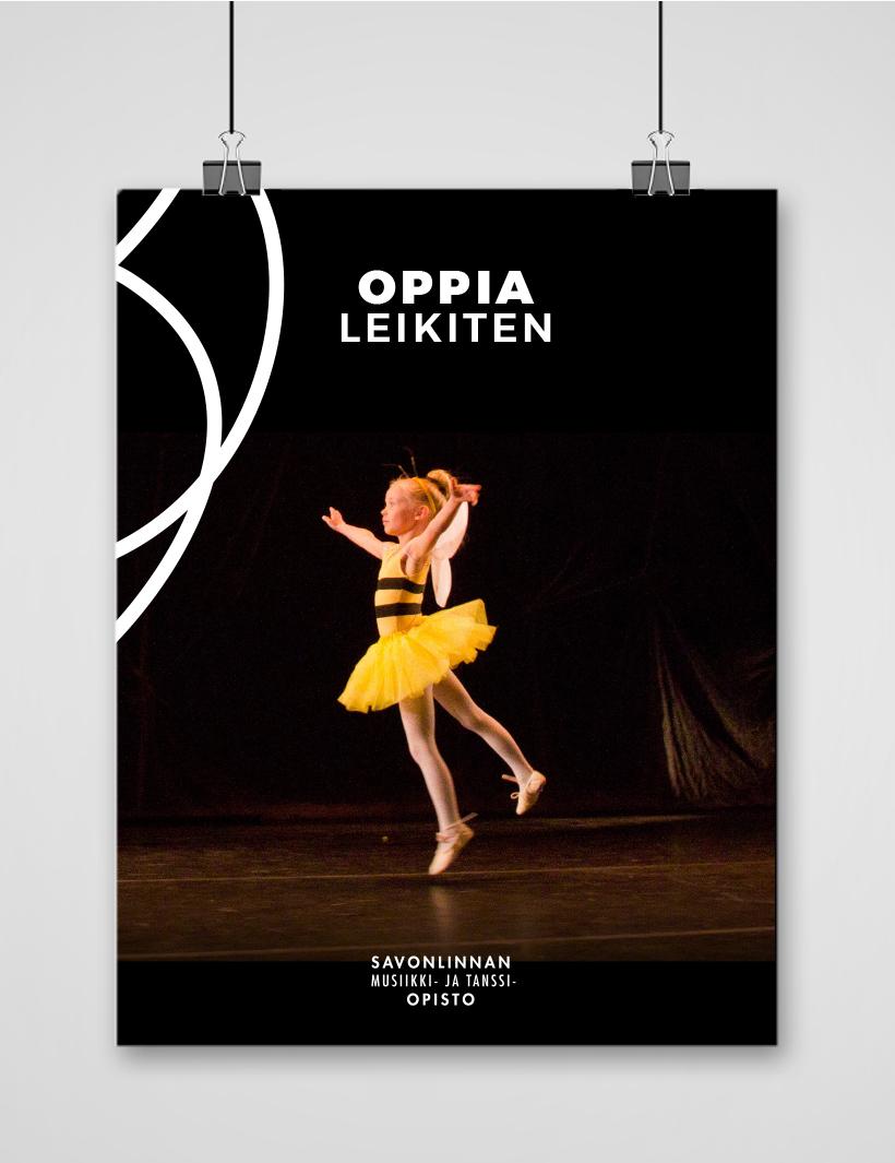 Työnäyte: Savonlinnan musiikki- ja tanssiopisto - Visuaalinen ja graafinen suunnittelu