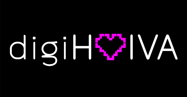 Työnäyte: digiHOIVA - Logon ja tunnuksen suunnittelu, visuaalinen ja graafinen suunnittelu