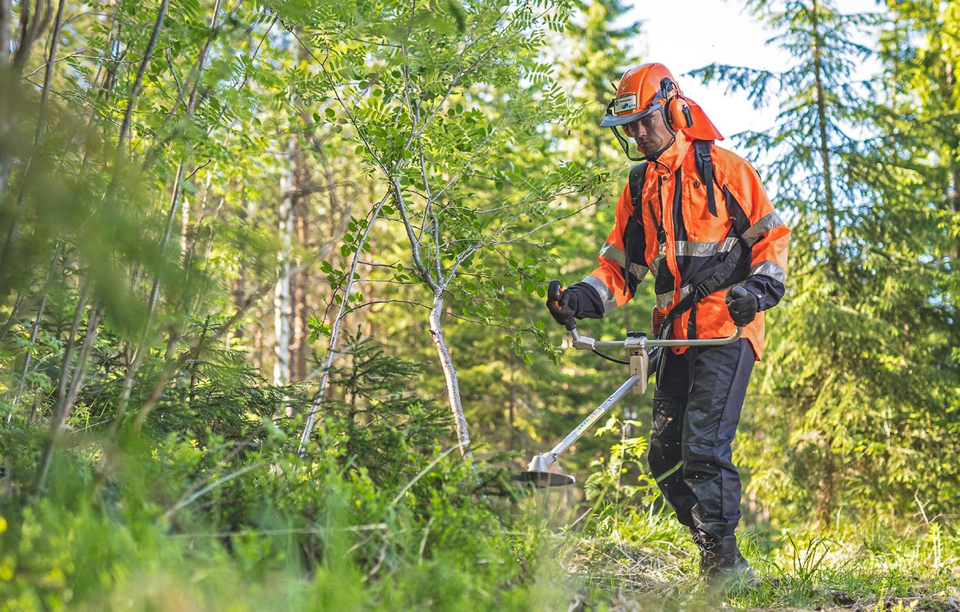Työnäyte: Metsän raivaaja - MTK vaikuttavaa viestintää; visuaalinen ja graafinen suunnittelu