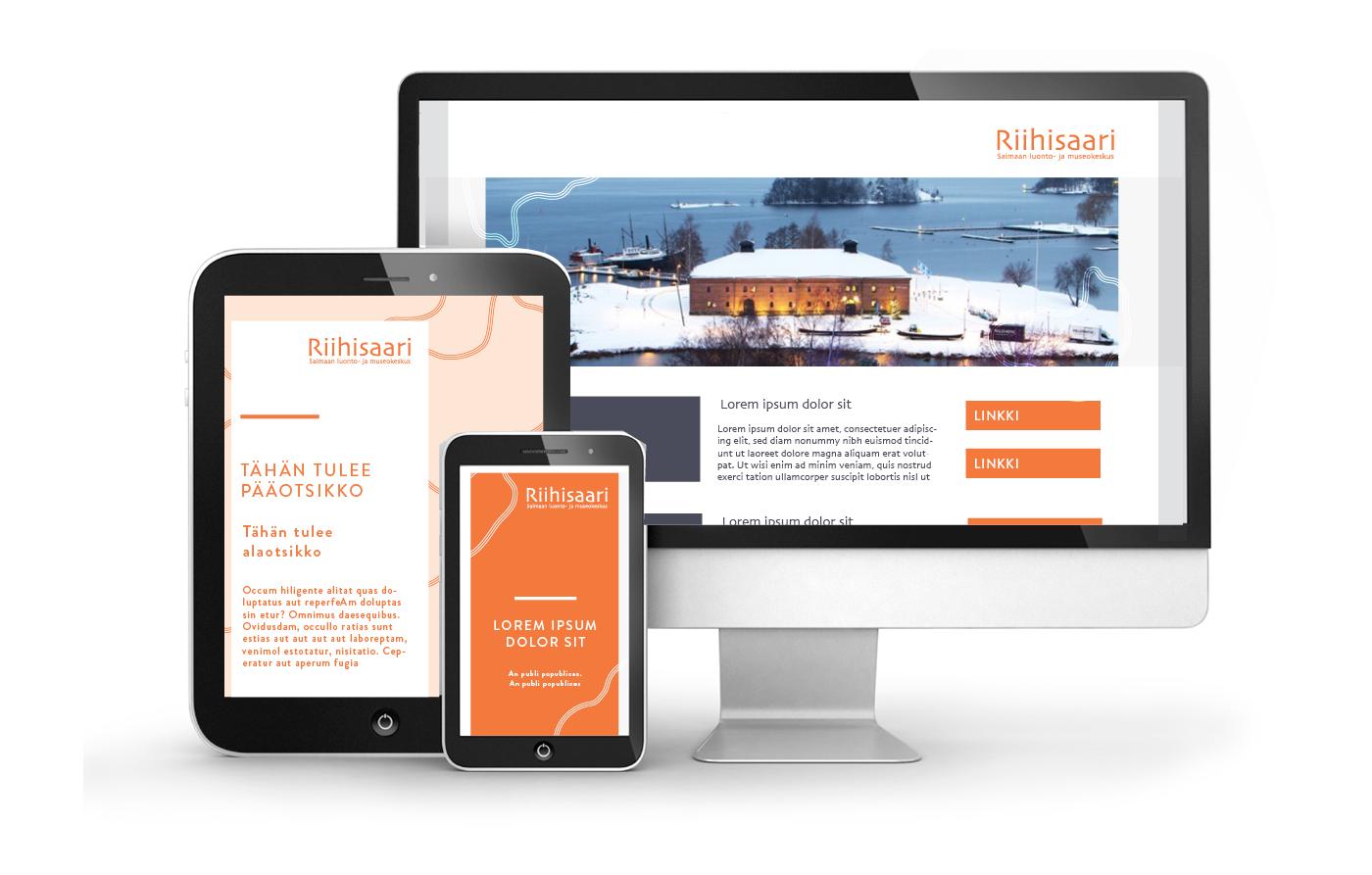 Työnäyte: Riihisaari - verkkosivujen graafinen suunnittelu
