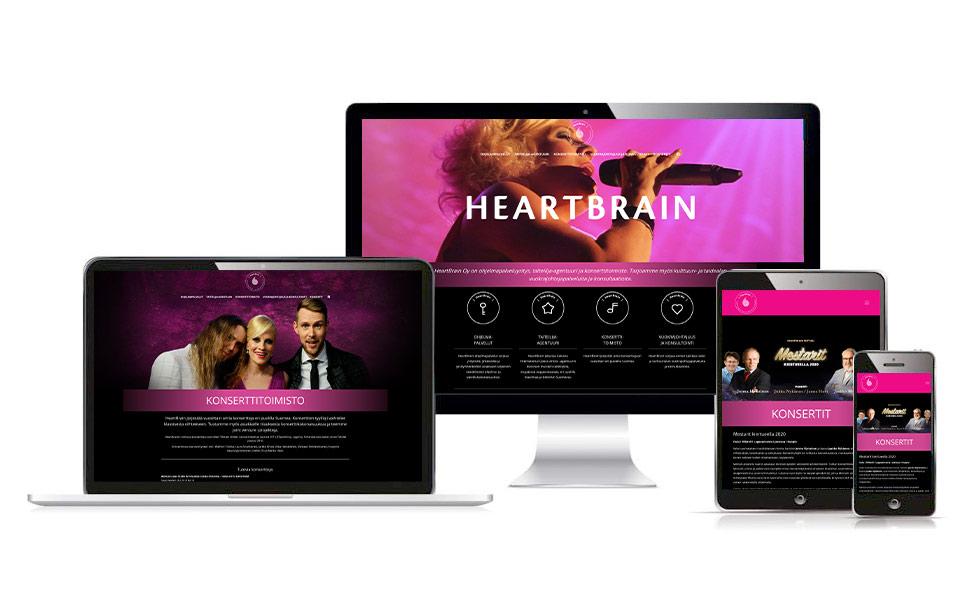 Työnäyte: HeartBrain - Responsiivisen verkkosivuston suunnittelu ja toteutus